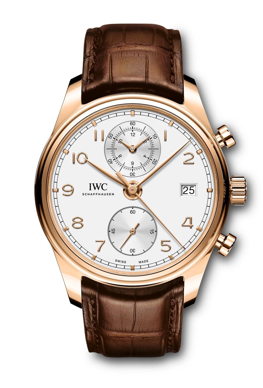 Aktueller Vertreter der Uhrenlinie: der 2017 überarbeitete IWC Portugieser Chronograph Classic