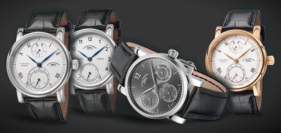 """Die Manufakturlinie """"R. Mühle & Sohn"""": Die Robert Mühle Zeigerdatum ist der vierte Zeitmesser der 2014 vorgestellten Uhrenlinie."""