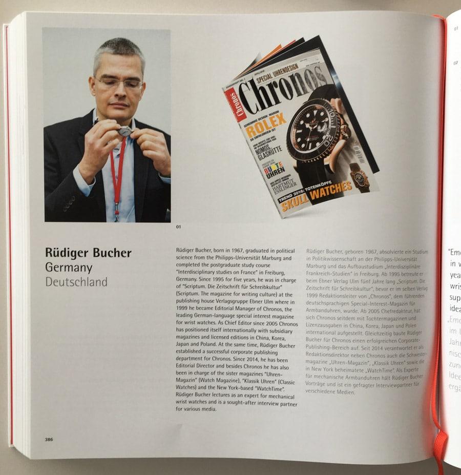 Rüdiger Bucher als Juror im Red Dot Yearbook 2016/2017