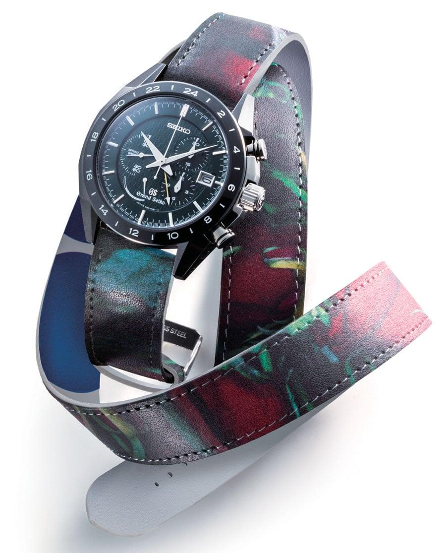 Der Grand Seiko Black Ceramic Limited Edition Spring Drive Chronograph SBGC017 passt durch seinen dynamischen Stil und innovativen Antrieb perfekt in das Avantgarde-Designkonzept.