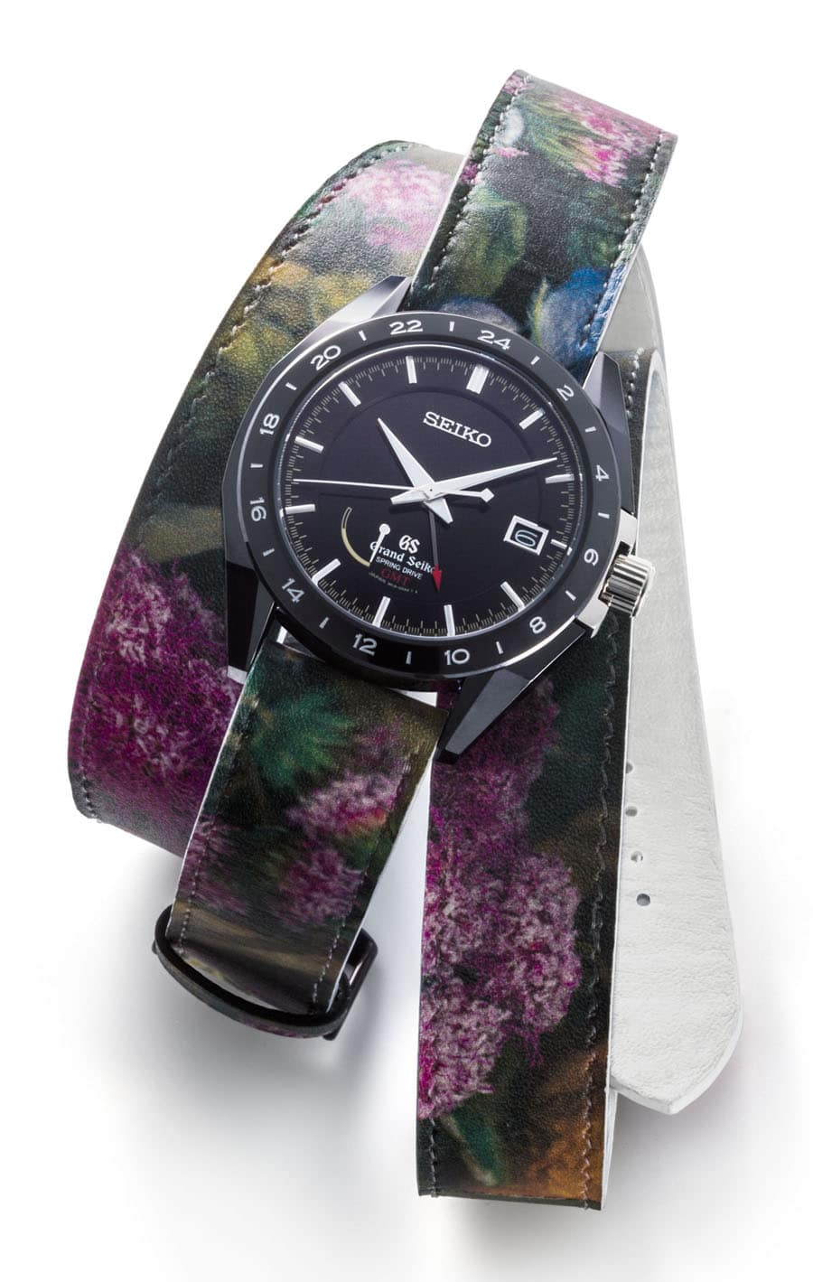 Seiko: Grand Seiko Black Ceramic Limited Edition Spring Drive GMT SBGE037 mit Wechselband