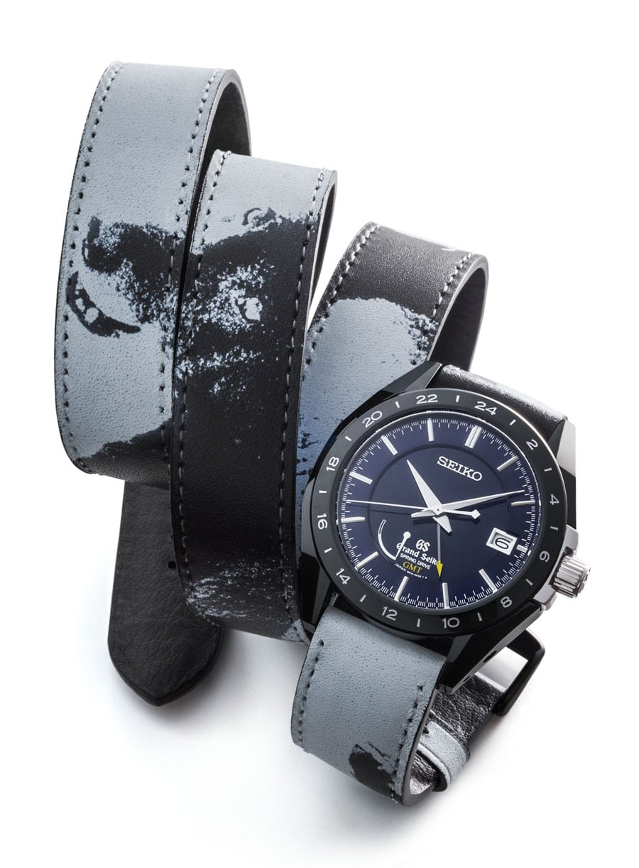 Seiko: Grand Seiko Black Ceramic Limited Edition Spring Drive GMT SBGE039 mit Wechselband