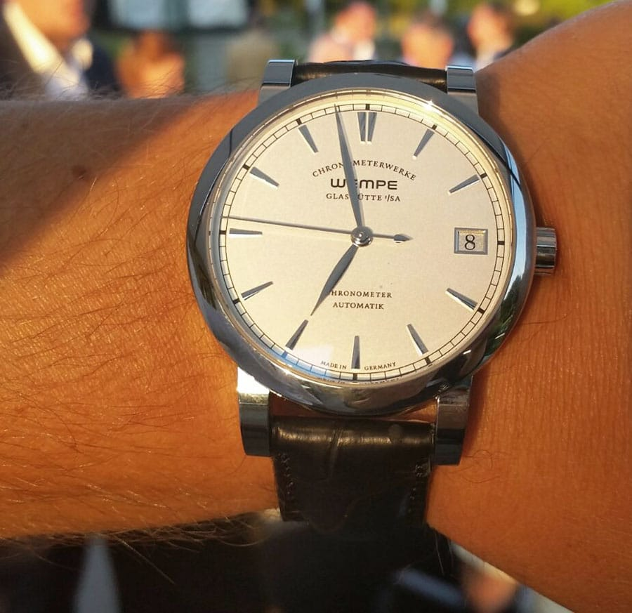 Wempe Glashütte: Chronometerwerke Automatik in Edelstahl