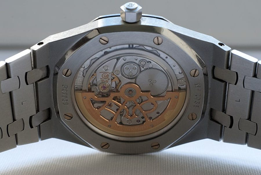 Audemars Piguet Royal Oak Kaliber 2121 mit skelettiertem Goldrotor