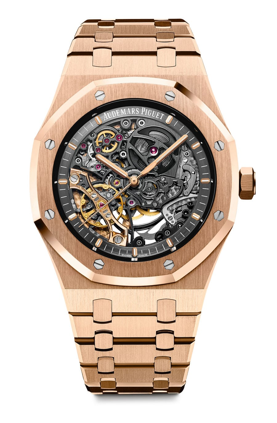 Audemars Piguet: Royal Oak Doppelte Unruh Squelette in Roségold, Referenz 15407OR.OO.1220OR.01