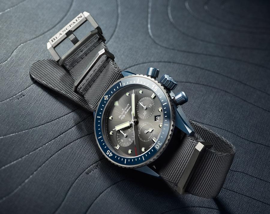 Blancpain: Fifty Fathoms Bathyscaphe Flyback Chronograph Blancpain Ocean Commitment II