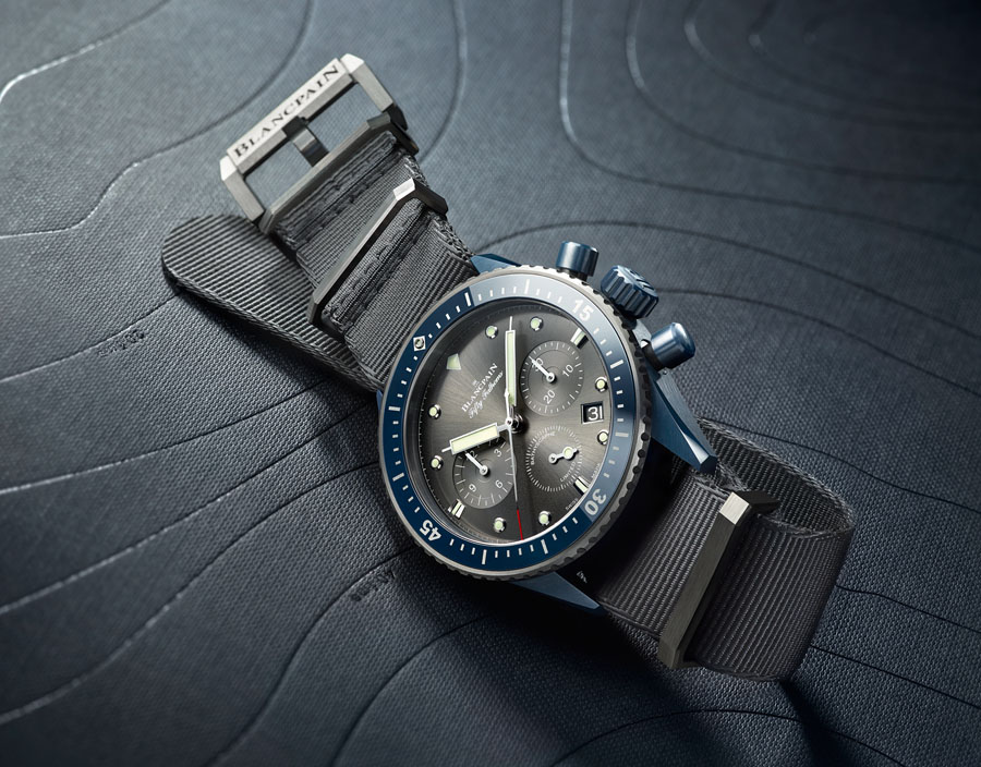Blancpain: Flyback Chronograph Fifty Fathoms Bathyscaphe Ocean Commitment II
