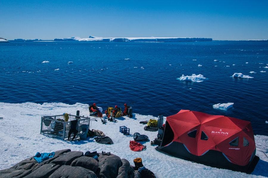 Blancpain: Flyback Chronograph Fifty Fathoms Bathyscaphe Ocean Commitment II