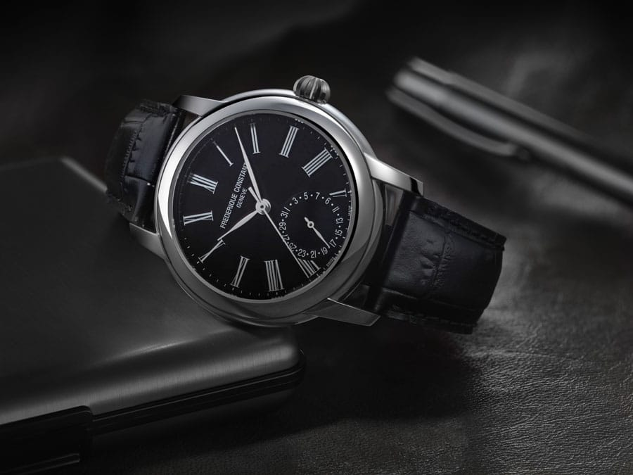 Frédérique Constant: Classic Manufacture mit schwarzem Zifferblatt