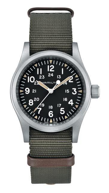 Platz 3 der 25 meistgesuchten Uhren unter 1.000 Euro: Hamilton Khaki Field