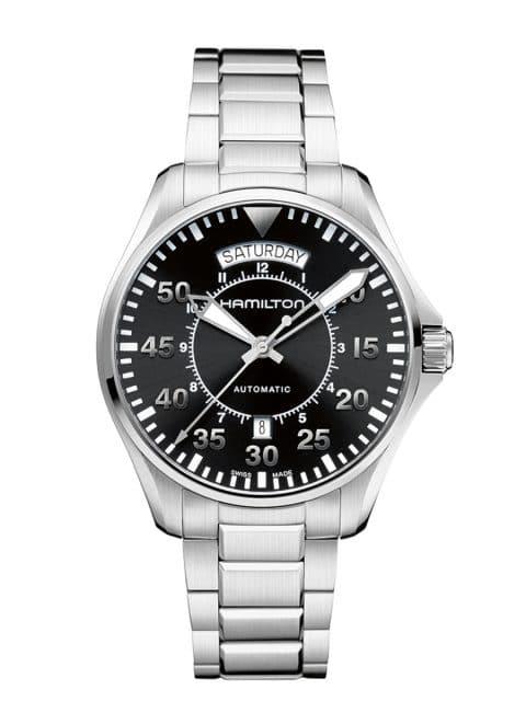 Platz 9 der 25 meistgesuchten Uhren unter 1.000 Euro: Hamilton Khaki Pilot Day Date