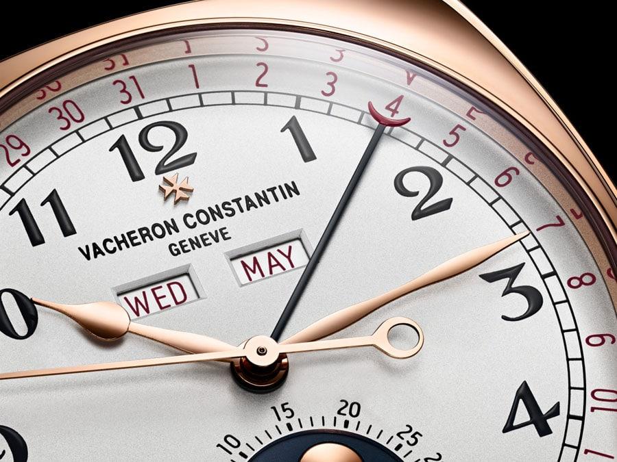 Zeigerdatum, Wochentags- und Monatsanzeige machen den Harmony Vollkalender von Vacheron Constantin zu einem nützlichen Begleiter