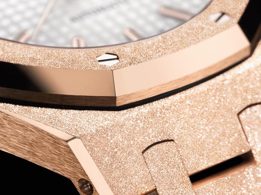 Mit funkelnder Oberfläche: die Royal Oak Frosted Gold von Audemars Piguet