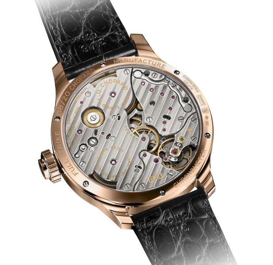 Das Uhrwerk der Full Strike ist als Chronometer zertifiziert