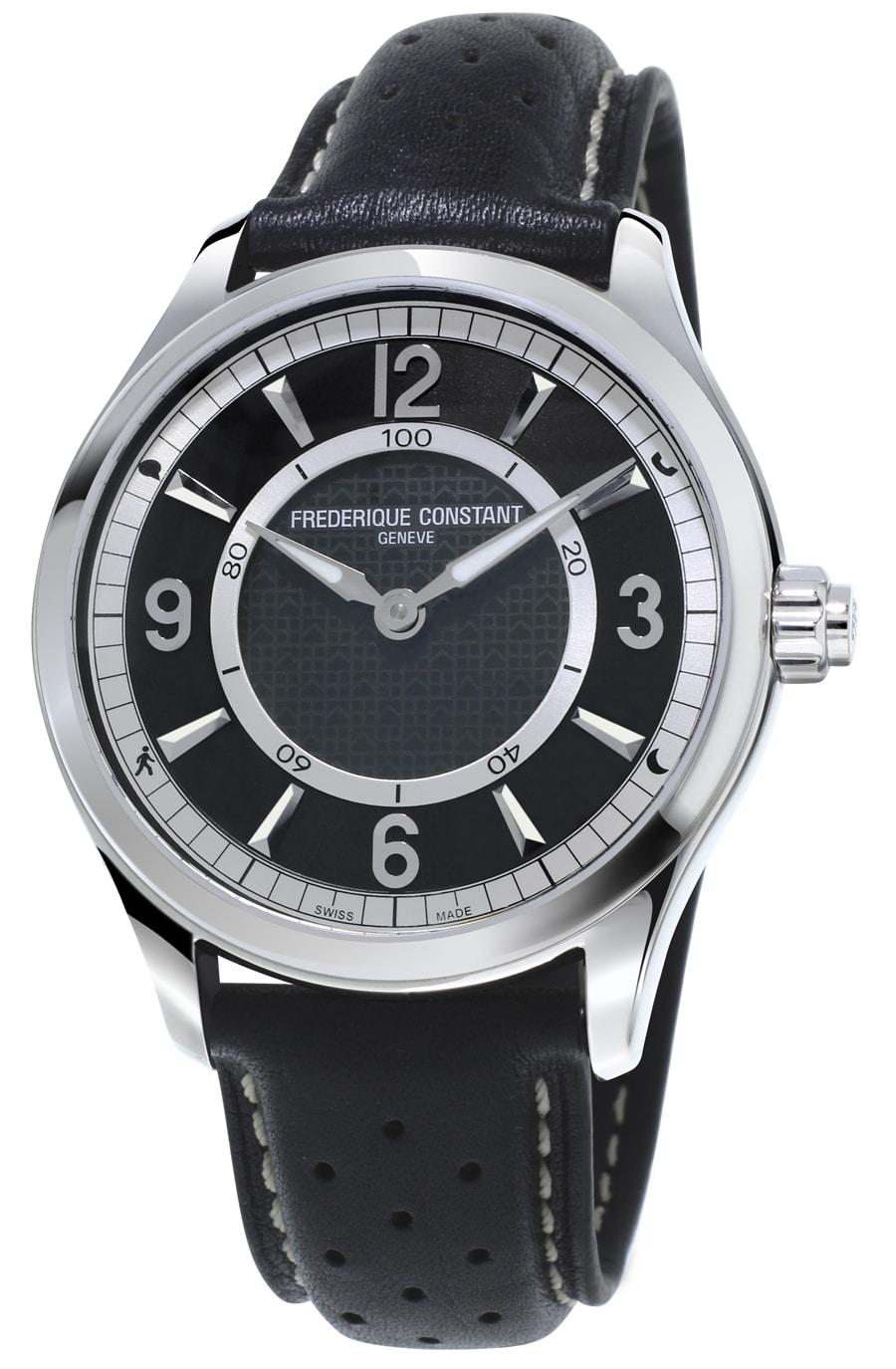 Frédérique Constant: Horological Smartwatch mit schwarzem Zifferblatt