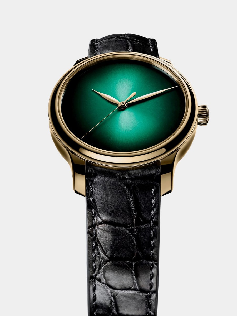 Auffällig: die H. Moser & Cie. Endeavour Centre Seconds Concept Cosmic Green