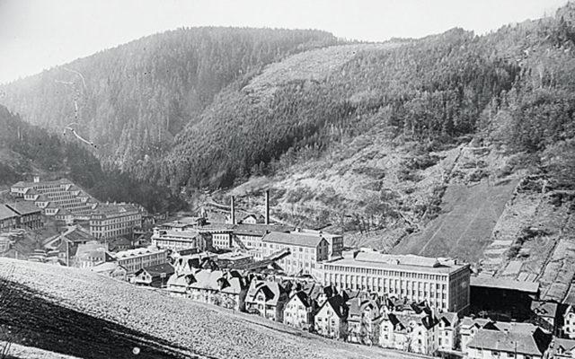 Das Junghans-Gelände auf der Schramberger Geißhalde in den 1930er Jahren