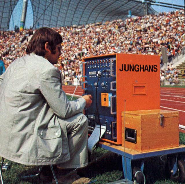 Zeitmessung durch Junghans bei den Olympischen Spielen 1972 in München