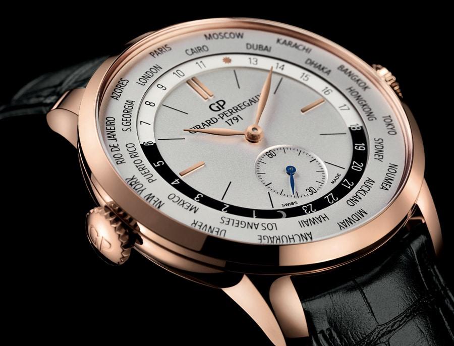 Die Girard-Perrgaux 1966 WW. TC – hier in Roségold – ist das erste Modell mit Weltzeitanzeige in dieser klassischen Uhrenlinie