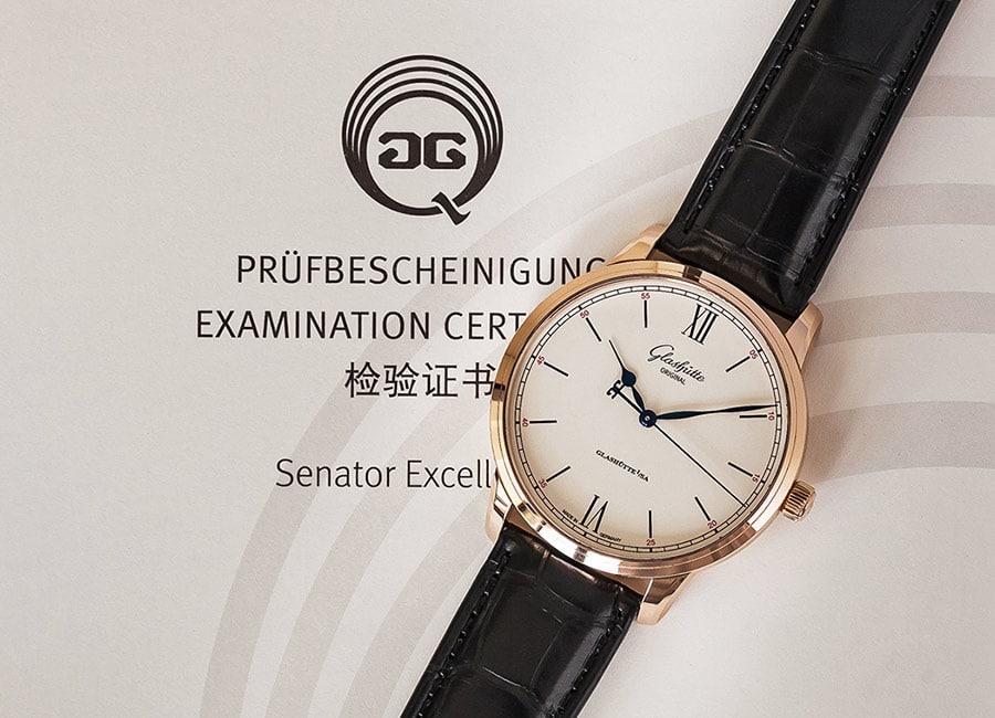 Glashütte Original: Senator Excellence Prüfbescheinigung