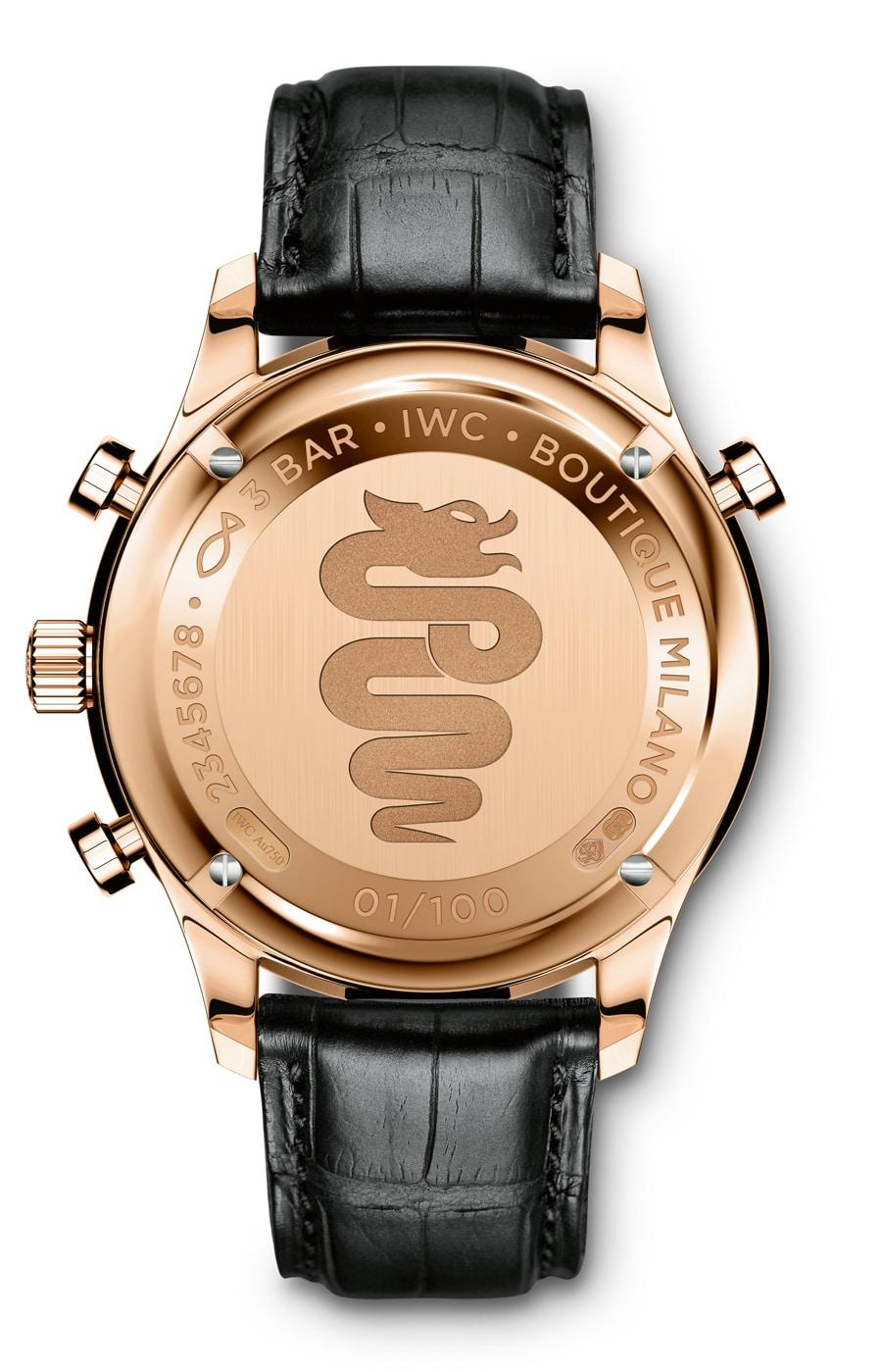 Die IWC Portugieser Chronograph Rattrapante Boutique Milano ziert das Wappen des Herzogtums Mailand
