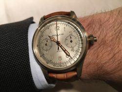 Die Montblanc 1858 Chronograph Tachymeter am Handgelenk