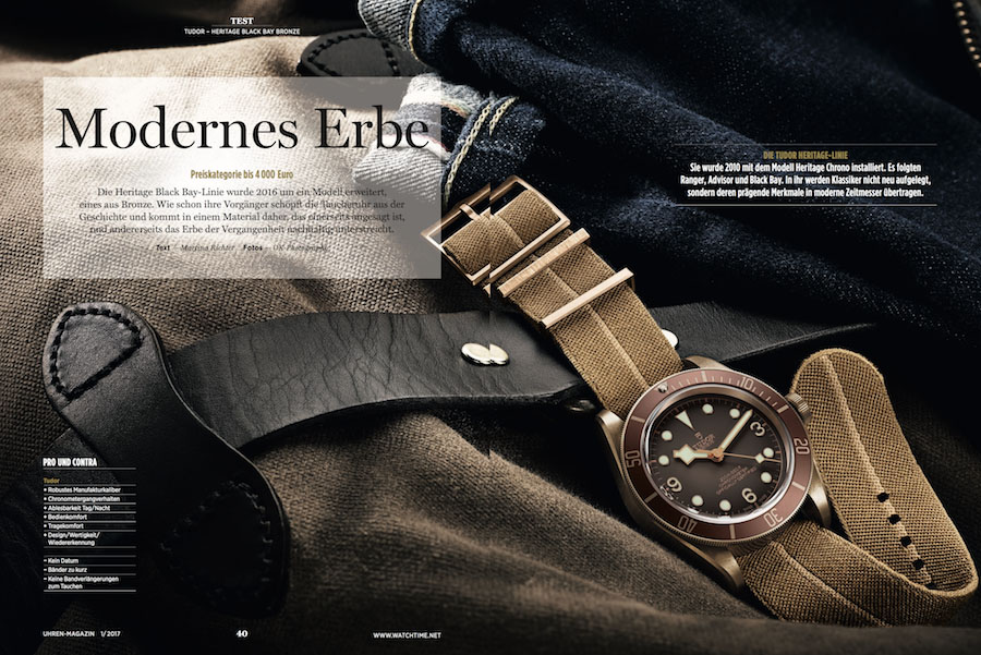 Test der Tudor Black Bay Bronze im UHREN-MAGAZIN 1/2017
