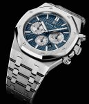 Audemars Piguet: Royal Oak Chronograph in Edelstahl mit blauem Zifferblatt