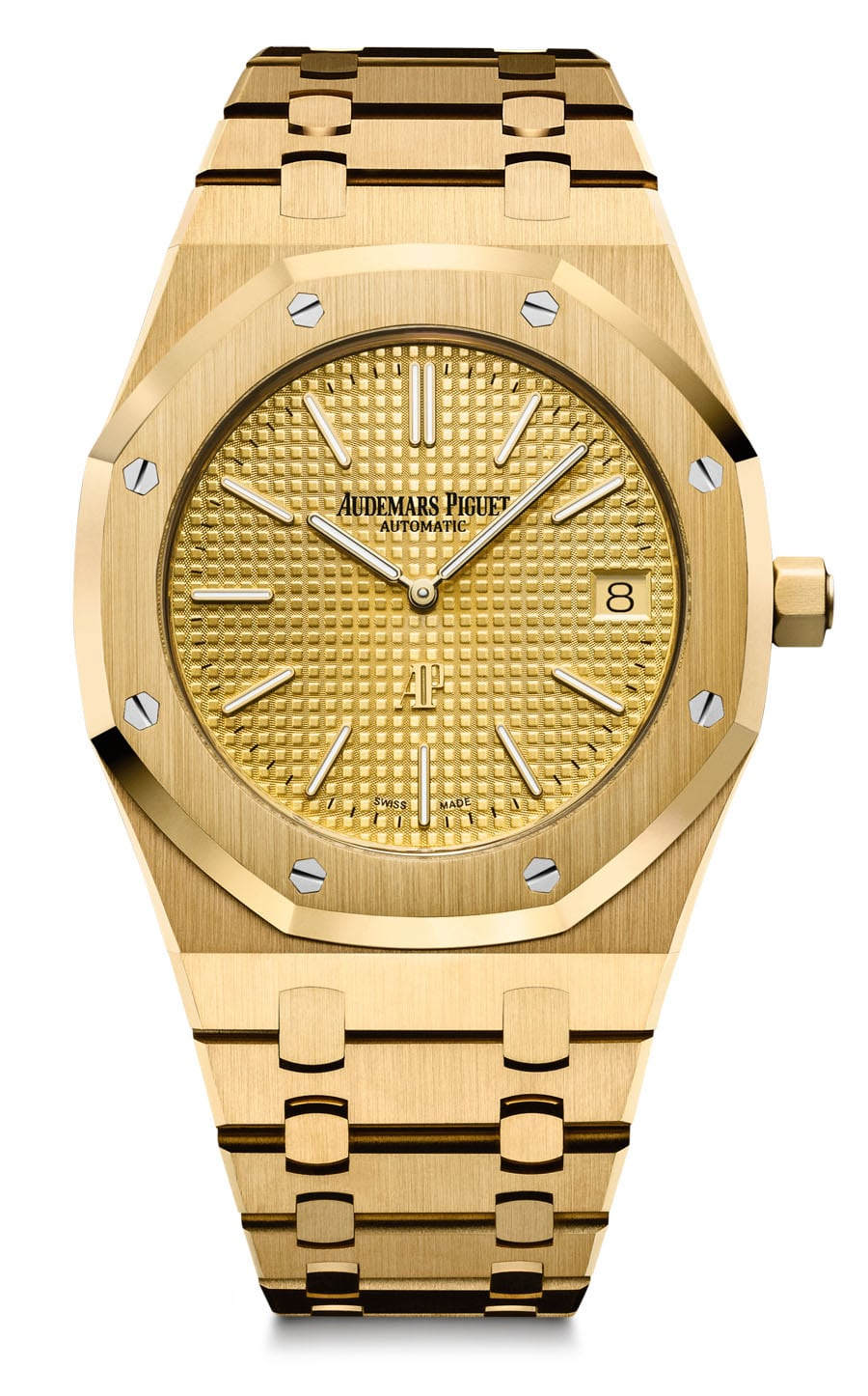 Audemars Piguet: Royal Oak Extraflach in Gelbgold mit goldfarbenem Zifferblatt