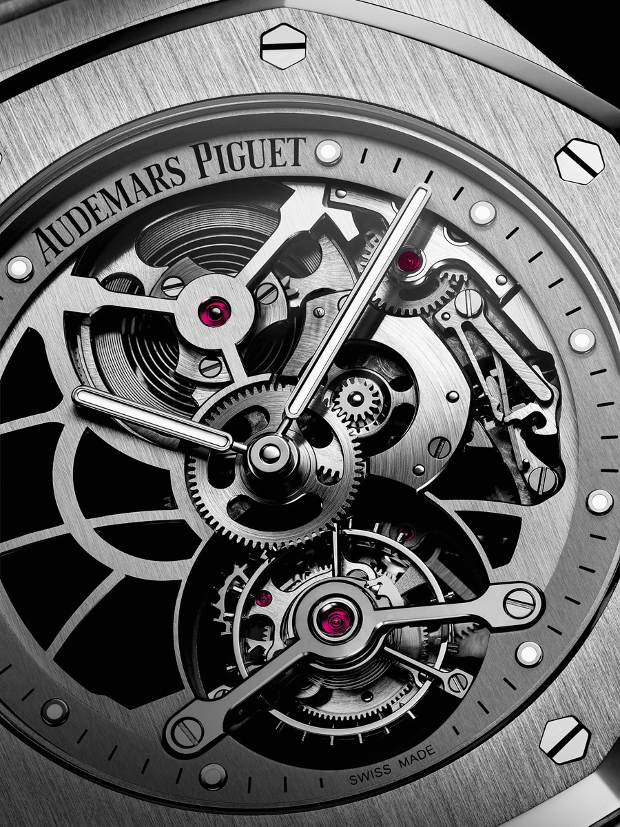 Audemars Piguet: Royal Oak Tourbillon Extra-Thin Openworked in Edelstahl