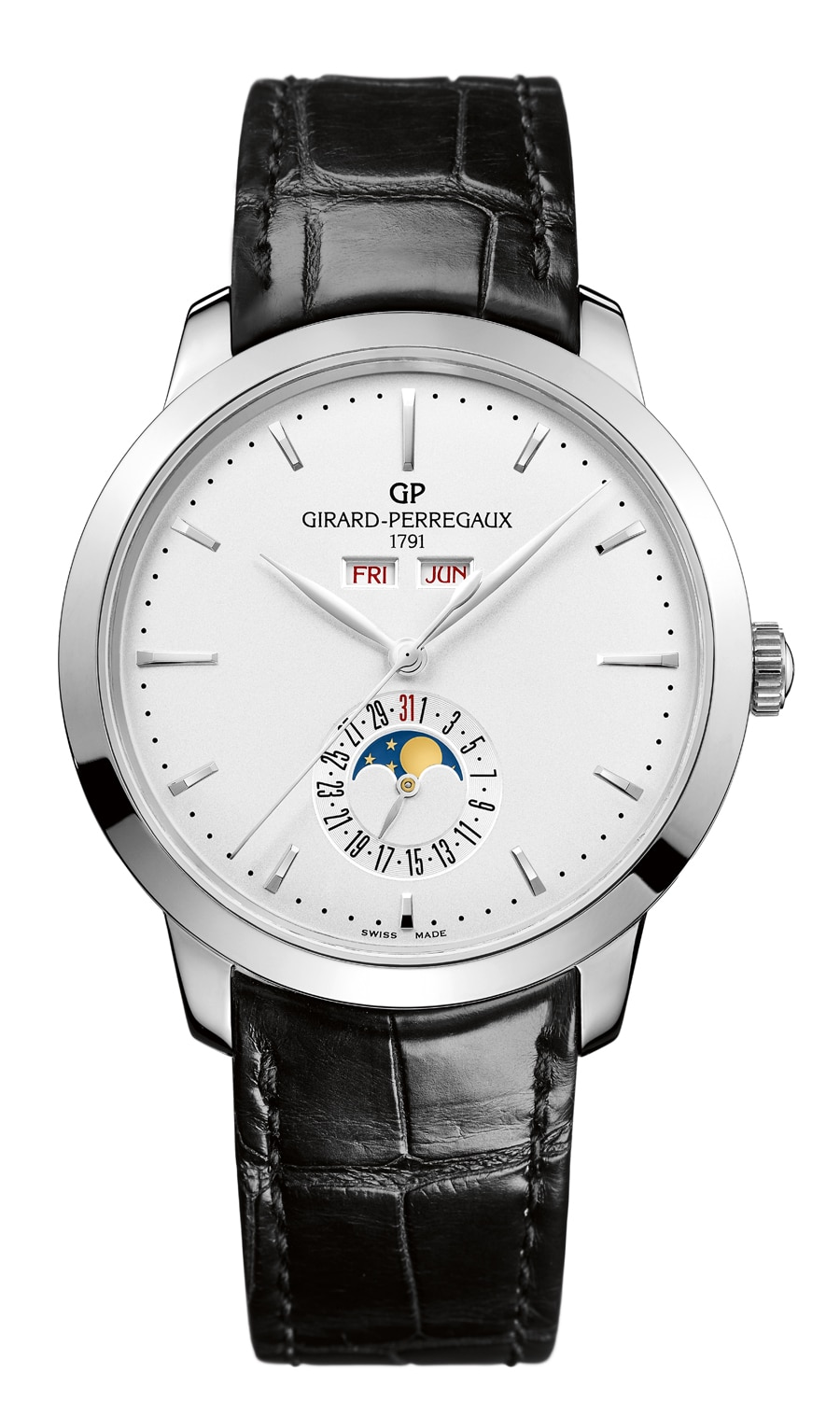 Elegante Dress-Watch: der 1966 Vollkalender von Girard-Perregaux