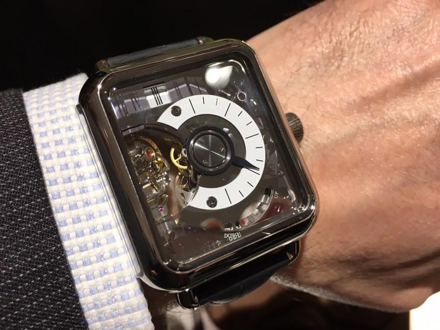 H. Moser & Cie: Swiss Alp Watch Minute Retrograde Wristshot