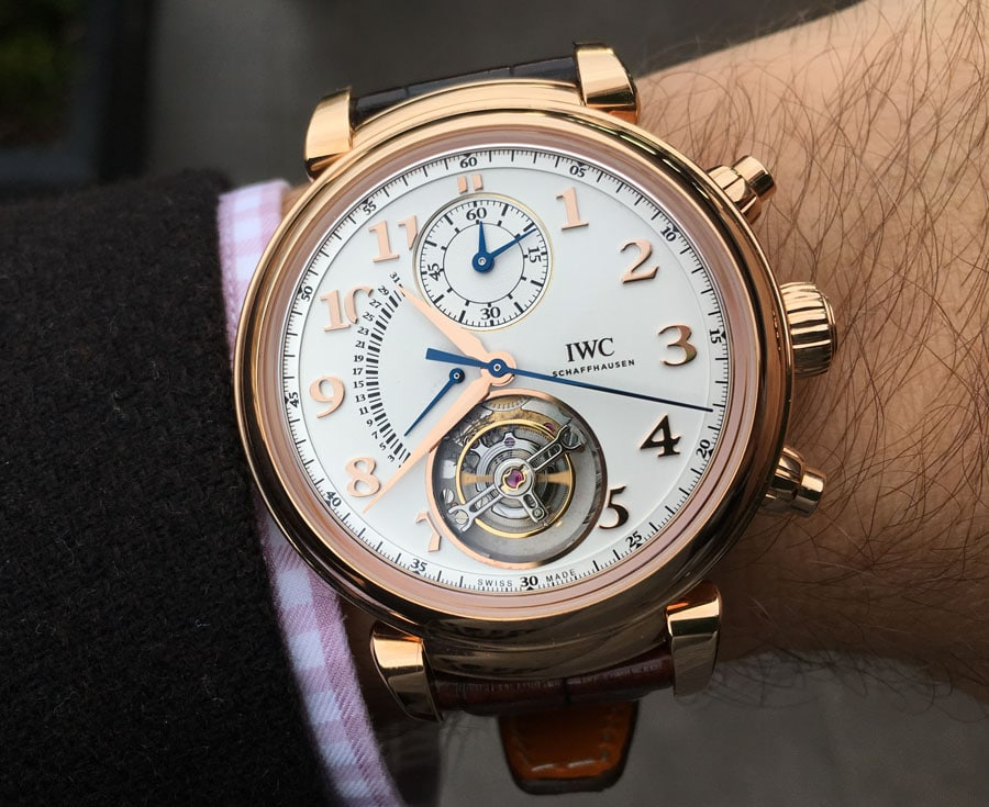 Die IWC Da Vinci Tourbillon Retrograde Chronograph am Handgelenk