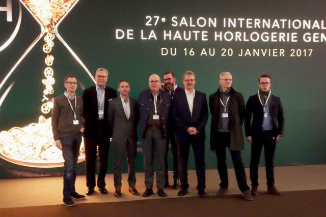 Die Teilnehmer der Leserreise zum Genfer Uhrensalon SIHH 2017