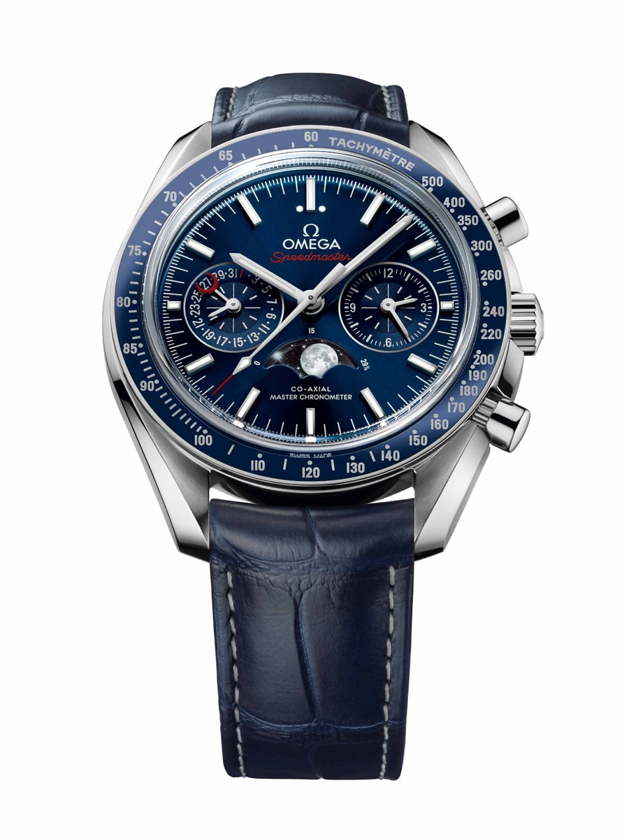 Omega Speedmaster Moonwatch Co-Axial Master Chronometer Moonphase Soldat