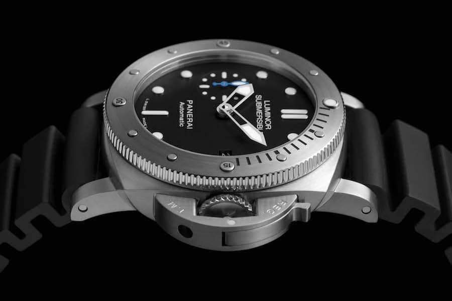 Panerai: Luminor 1950 Submersible 42 Millimeter in Edelstahl