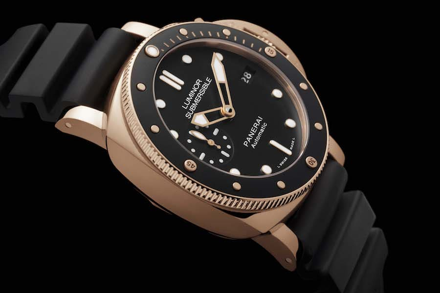 Panerai: Luminor 1950 Submersible 42 Millimeter in Rotgold