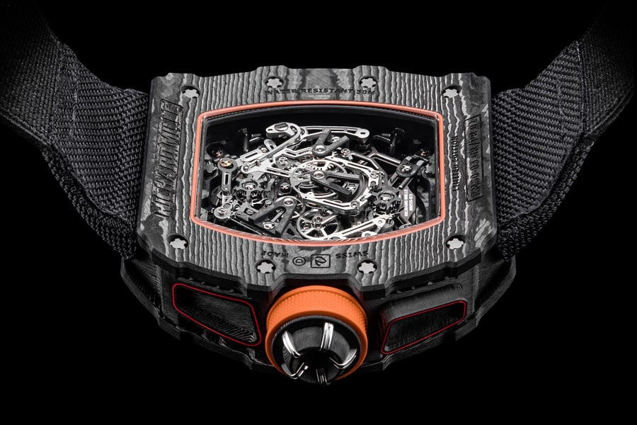 Rückseite des RM 50-03 Tourbillon Split Seconds Chronograph McLaren F1