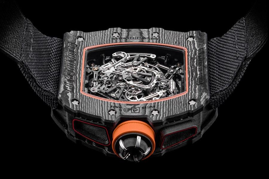 Rückseite des RM 50-03 Tourbillon Split Seconds Chronograph McLaren F1