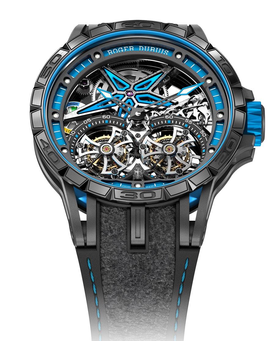 Roger Dubuis: Excalibur Spider Pirelli Doppeltourbillon