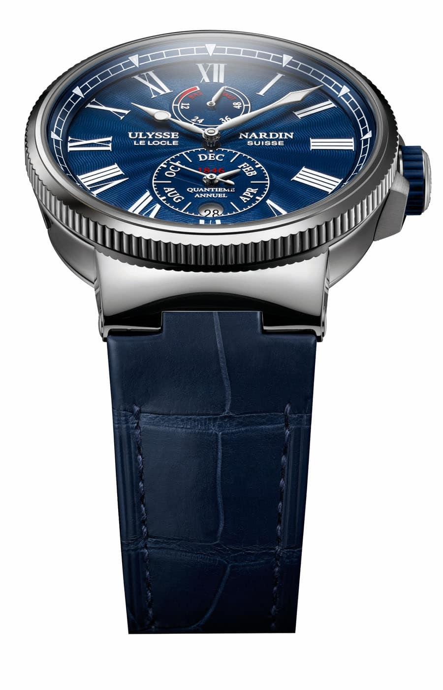 Ulysse Nardin: Marine Annual Calendar Chronometer für 12.800 Euro.