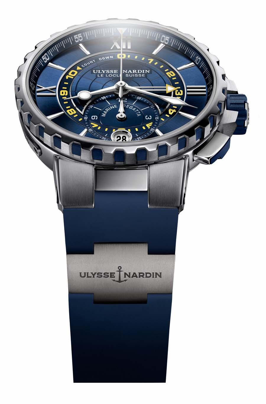 Ulysse Nardin: Marine Regatta Chronograph mit blauem Zifferblatt