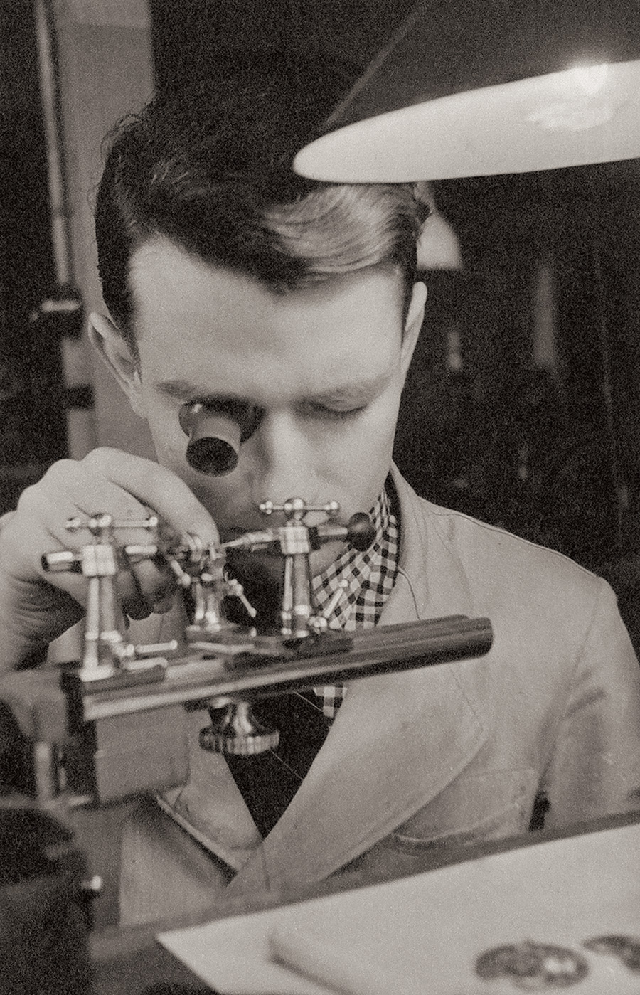 Walter Lange als junger Uhrmacher