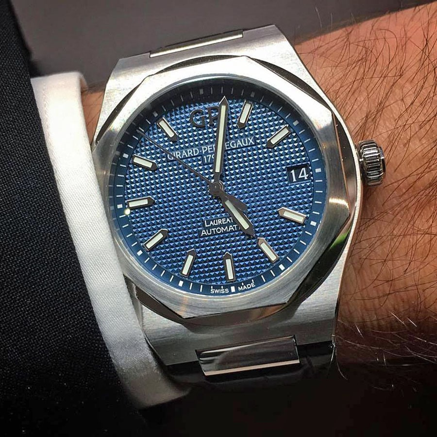 Wristshot der Girard-Perregaux Laureato