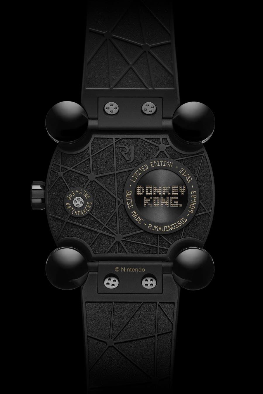 Gehäuserückseite der Romain Jerome RJ X Donkey Kong