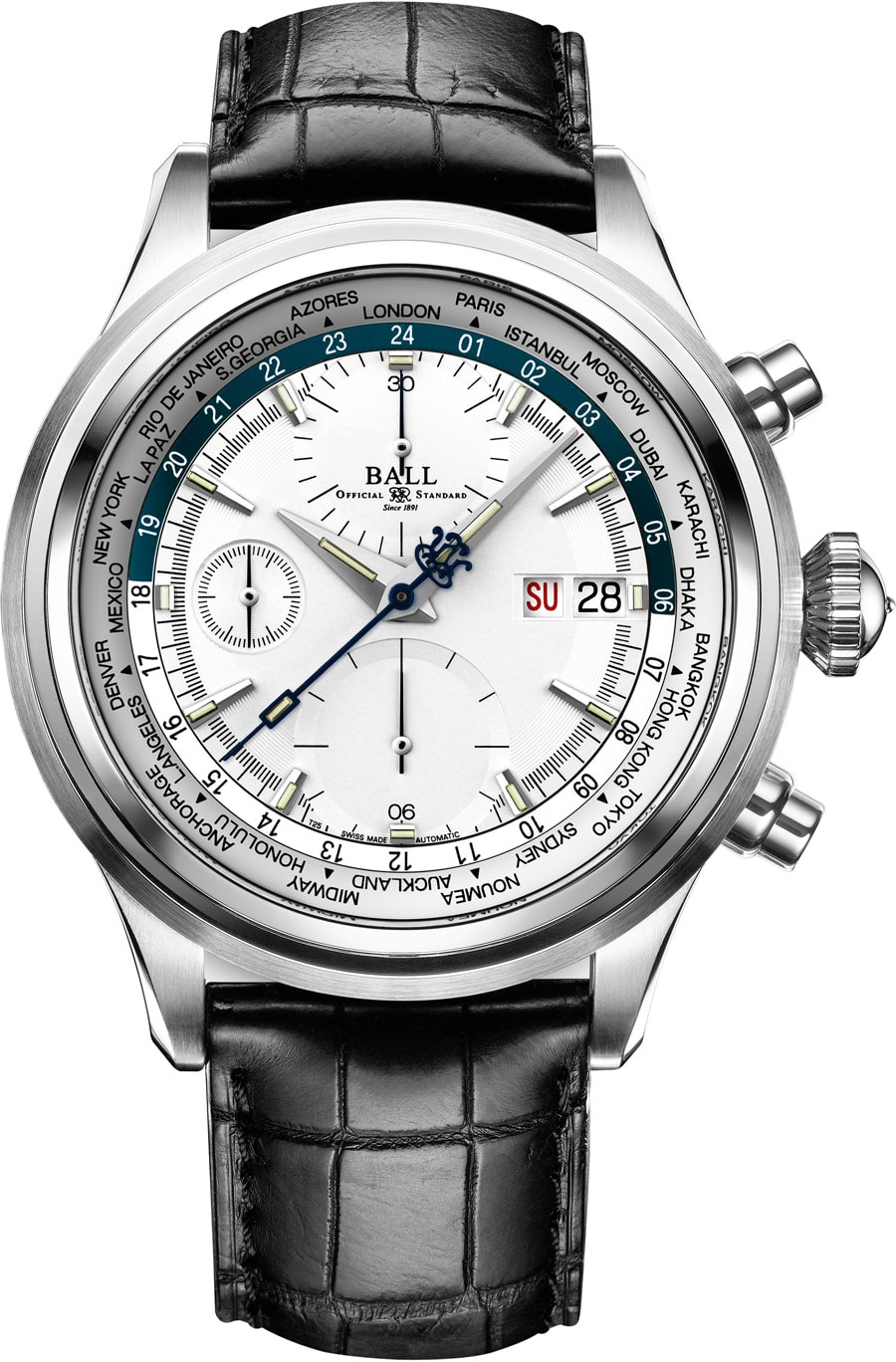 Ball Watch: Trainmaster Worldtime Chronograph