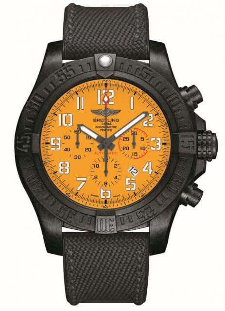 Breitling: Avenger Hurricane 12H mit gelbem Zifferblatt