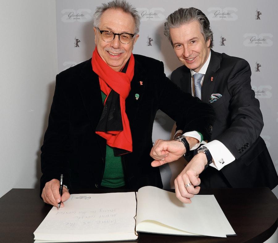 Dieter Kosslick, Fstivaldirektor der Berlinale und Thomas Meier, CEI Glashütte Original.