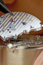 Die Platine eines Uhrwerks von Glashütte Original