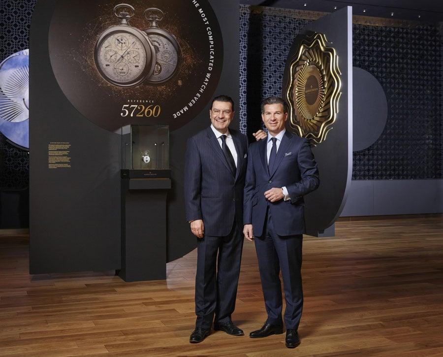 Juan Carlos Torres zusammen mit dem neuen CEO von Vacheron Constantin Louis Ferla